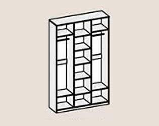 Купить шкаф Диал Шкаф 3-х дверный Кэт-4