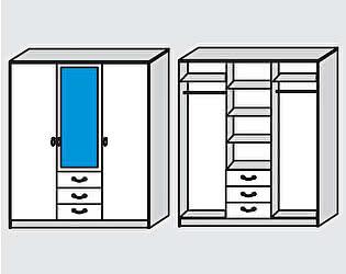Купить шкаф Диал Шкаф 3-х дверный Кэт-6