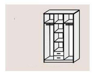Купить шкаф Диал Шкаф 3-х дверный Кэт-7