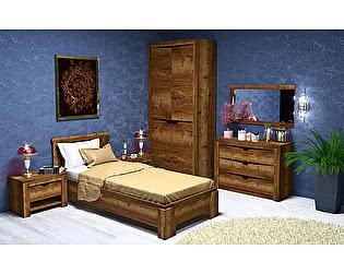 Купить спальню СБК Гарда (дуб галифакс табак) Комплект 2