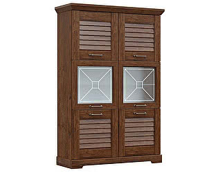 Купить шкаф СБК Кантри пенал низкий со стеклом