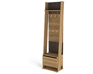 Купить шкаф СБК Стреза ПС-02 открытый с вешалкой