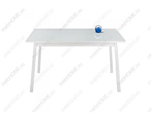 Купить стол Woodville со стеклом Ланс 130 белый