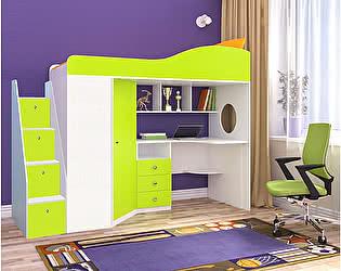 Купить кровать Ярофф чердак Ярофф Кадет 1 (универсальная лестница)