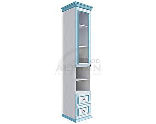 Купить шкаф Aletan Wood Пенал  фасады со стеклом
