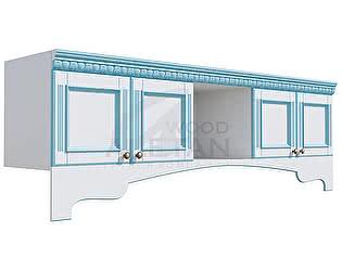 Купить антресоль Aletan Wood фасады со стеклом (IC901)