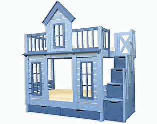 Купить кровать Велес-Арт Терем с лестницей 2х ярусная