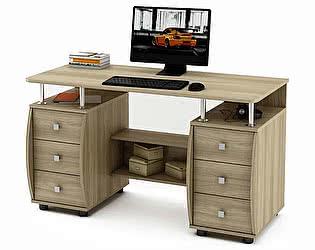 Купить стол ВМФ Карбон-4 компьютерный