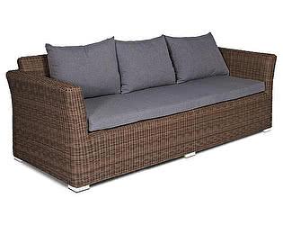 Купить диван Кватросис Капучино трехместный (коричневый)