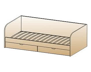 Кровать Лером КР-117 (90х190)