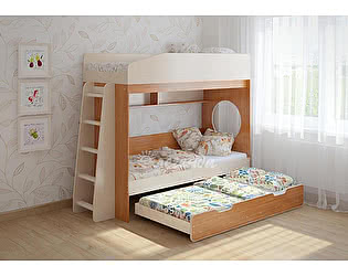 Купить кровать Легенда 10.4 трехъярусная