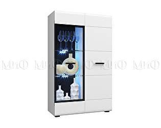Купить шкаф Миф Нэнси Белый глянец стекло