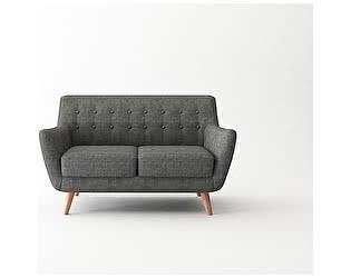 Купить диван Bradexhome Picasso двухместный, темно-серый