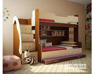 Купить кровать Фанки Кидз трехъярусная 21