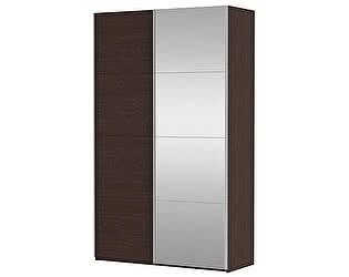 Купить шкаф Е 1 купе 2-х дверный (ДСП/Зеркало)
