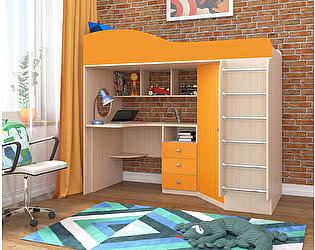 Купить кровать Ярофф чердак Ярофф Кадет 1 (металлическая лестница)