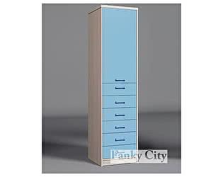 Купить шкаф Фанки Кидз с одной дверью и 6 ящиками Сити, ФС-04