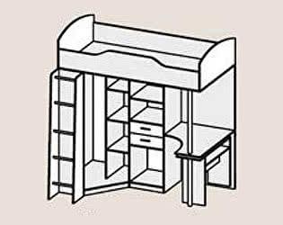 Купить кровать Диал Кровать Бриз-1 (ЛДСП)