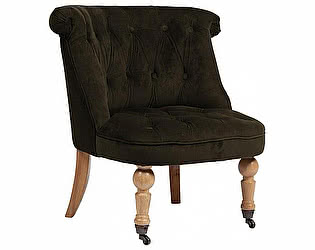 Купить кресло DG-Home Amelie French Country Chair Тёмно- Коричневый Велюр