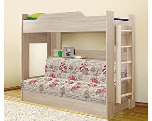 Купить кровать Боровичи-мебель двухъярусная с диваном (2 кат)