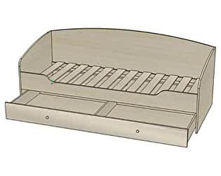 Купить кровать Стиль Мийа-3 КР-313 (80х200) без фотопечати