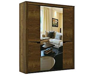 Купить шкаф СБК СГ Гарда 4-х дверный (дуб галифакс табак)