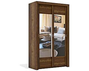 Купить шкаф СБК СГ Гарда 2-х дверный (дуб галифакс табак)