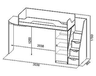 Купить кровать SV-мебель Сити-1 (0,8х2,0) 2 яруса