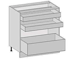 Купить  Браво Каркас нижнего шкафа с 3-мя ящиками Н 803 Белый Греция