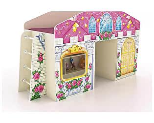 Купить кровать Фанки Кидз чердак Замок принцессы ФБ-КЧ8 с окошком