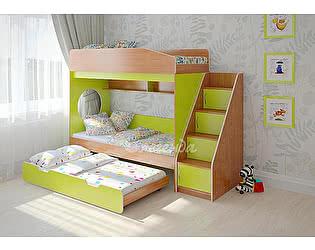 Купить кровать Легенда Легенда 10.5 трехъярусная