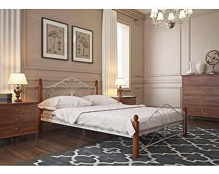 Купить кровать Rollmatratze Фортуна-1, белая / махагон
